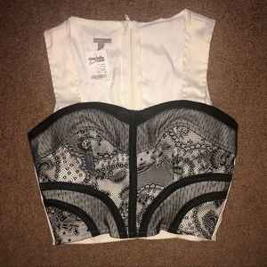 {Charlotte Russe} NWT padded lace crop corset S